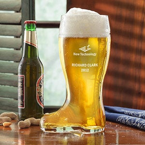 Personalized Corporate Logo 1 Liter Engraved Beer Boot - 10463