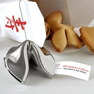 Personalized Corporate Logo Silver Fortune Cookie - 10468