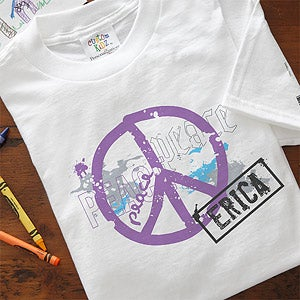 Personalization Mall Personalized Kids T-Shirts - Peace Sign at Sears.com