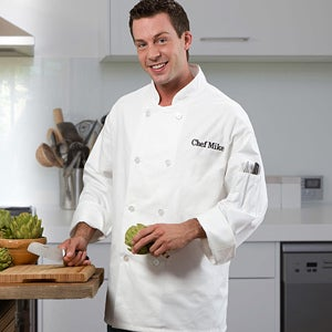 Personalized Chef's Jacket with Embroidered Name - 10492