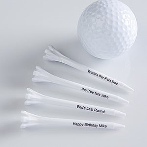 Personalization Mall Personalized Golf Tees - White at Sears.com