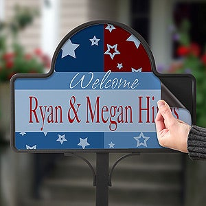 Buy Yard Stake With Interchangeable Garden Sign You Can Customize With Any  Text! Perfect For Any Patriotic Holiday. Free Personalization U0026 Fast  Shipping.
