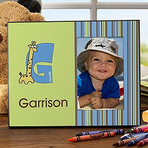 Personalized Boys Picture Frames - Alphabet Animals - 10513