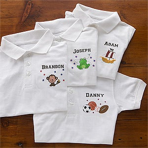 Personalized Kids Polo Shirt - Choose Your Design - 10520