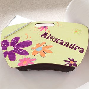 Personalized Girls Lap Desks - Flower Power - 10521