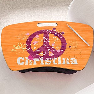 Personalized Lap Desks for Girls - Peace - 10522