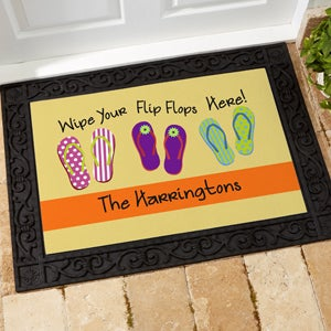 Personalized Summer Doormats - Flip Flops - 10545
