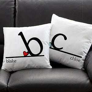 Personalized Throw Pillows - Heart Felt - 10565