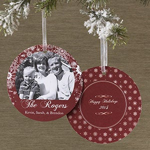 Personalized Hanging Ornament Photo Christmas Cards - 10574