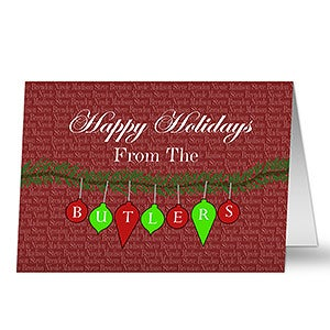 Personalized Holiday Cards - Family Greetings - 10576