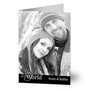 Personalized Photo Christmas Cards - Peace, Love, Joy - 10586