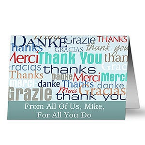 Personalized Greeting Cards - Many Thanks - 10587