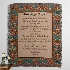 Personalization Mall Personalized Wedding Afghan - Wedding Prayer at Sears.com