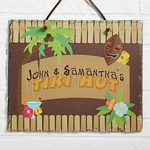 Tropical Paradise Personalized Slate Plaque - 10621