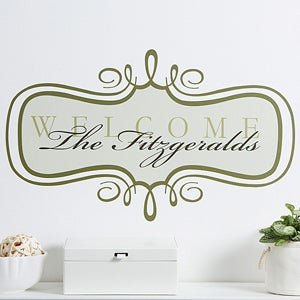 Personalized Wall Art Decals - Welcome - 10622