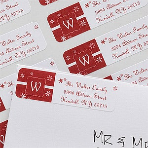Personalized Holiday Return Address Labels - Winter Wonderland - 10631