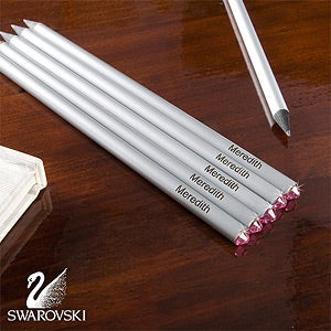 Personalized Pencils with Swarovski Crystals - 10645