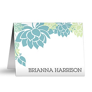 Personalized Note Cards - Floral Message - 10654