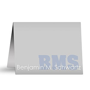 Personalized Stationery - Name & Monogram Note Cards - 10655
