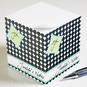 Personalized Sticky Note Cubes - Name & Initials - 10658