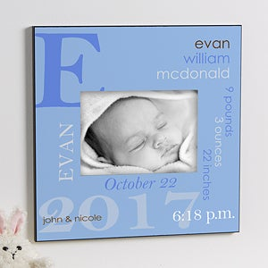 Personalized baby gifts personalizationmall find beautiful baby picture frames photo albums canvas prints and unique shelf blocks that can be personalized with babys name birth information negle Image collections