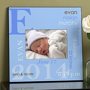 Personalization Mall Personalized 5x7 Picture Frame - Baby Boy at Sears.com