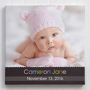 Personalized Baby Photo Canvas Art - Little Memories - 10670
