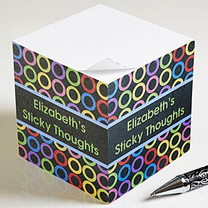 Personalized Notepad Cube - Bold Thoughts - 10671