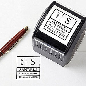 Personalized Address Stamps - Modern Address - 10673