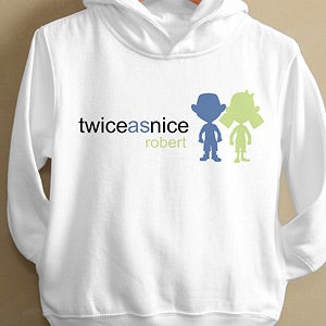 Personalization Mall Personalized Twin Toddlers Hooded Sweatshirt - Double Trouble at Sears.com