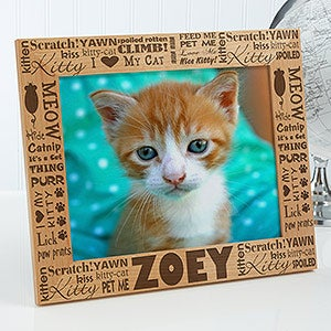 Personalized Cat Picture Frames - Good Kitty - 10717