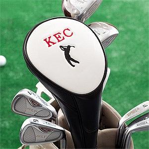 Peronalized Golf Club Head Cover - Black - 10723