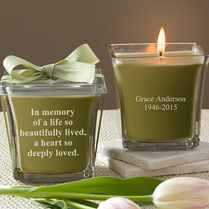 Personalized Memorial Candles - In Memory - 10733