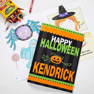 Personalized Halloween Coloring Books - Happy Halloween - 10737