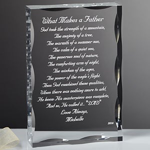 Personalized Gift Sculpture With Father Poem - 1074