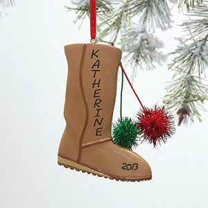 Personalized Christmas Ornaments - Snow Boots - 10744