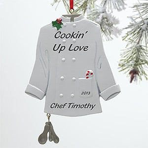 Personalized Chef Christmas Ornaments - 10746