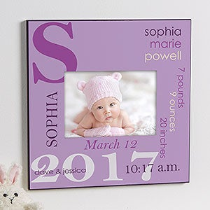 personalized 5x7 picture frame baby girl 10750