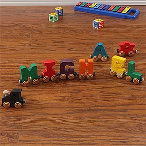 Personalized Wooden Name Train  - 1075D
