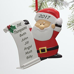 Personalized Santa Claus Christmas Ornament - 10760