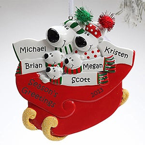Personalization Mall Polar Bear Family Personalized Christmas Ornament - 5 Names at Sears.com