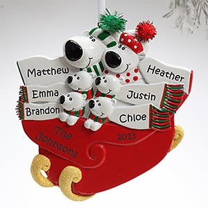 Personalization Mall Personalized Polar Bear Christmas Ornaments - 6 Names at Sears.com
