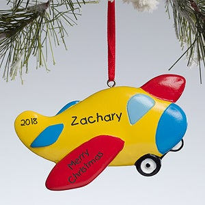 Personalized Airplane Christmas Ornament - 10765