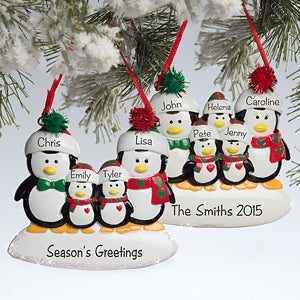 Personalized christmas ornaments holiday decorations for Family christmas ornaments to make