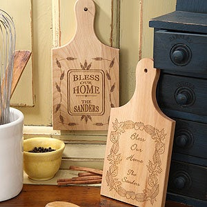 Personalization Mall Personalized Wood Cutting Board - Bless Our Home at Sears.com