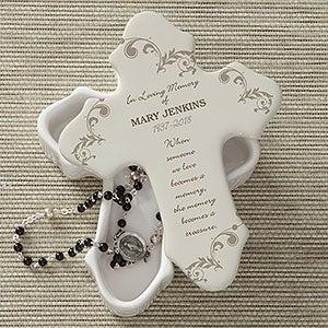 Personalized Cross Keepsake Box - Loving Memory - 10782