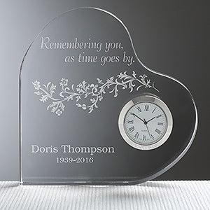 Personalized Memorial Clock - Remembering You - 10784