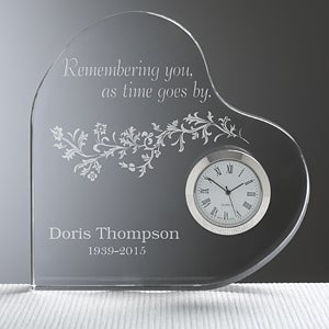 Personalized Memorial Clock - Remembering You - 10784