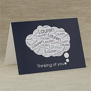 You Are On My Mind Personalized Greeting Card - 10789