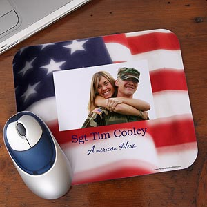 Personalized Photo Mouse Pad - American Flag - 10798